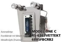 RETROSOUND Frontblende mit Metall-Bedienknöpfe RS-6367VETTEKT