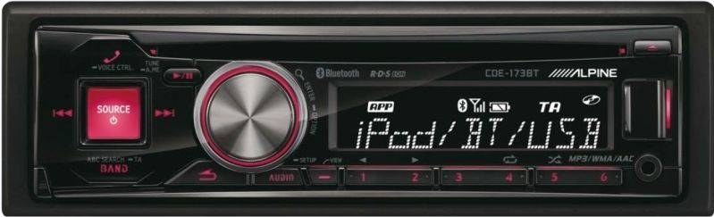 Alpine CDE-173BT Autoradio 1-DIN mit Bluetooth