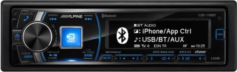 Alpine CDE-178BT Autoradio 1-DIN mit Bluetooth