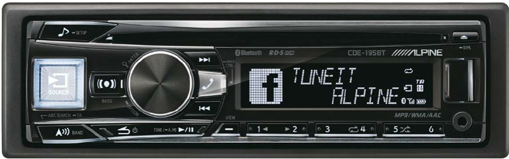 Alpine CDE-195BT Autoradio 1-DIN mit Bluetooth