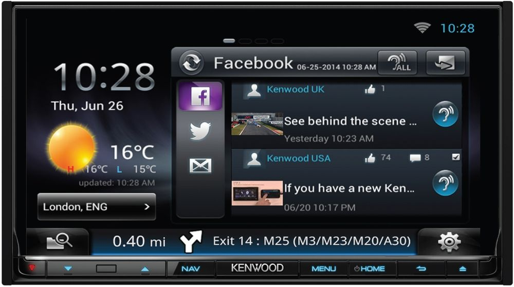 Kenwood DNN9150DAB Autoradio mit Navigation, Bluetooth und DAB+