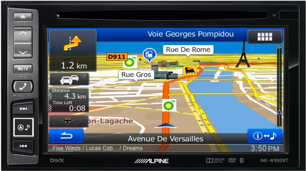 Alpine INE-W990BT Autoradio 2-DIN mit Navigation und Bluetooth
