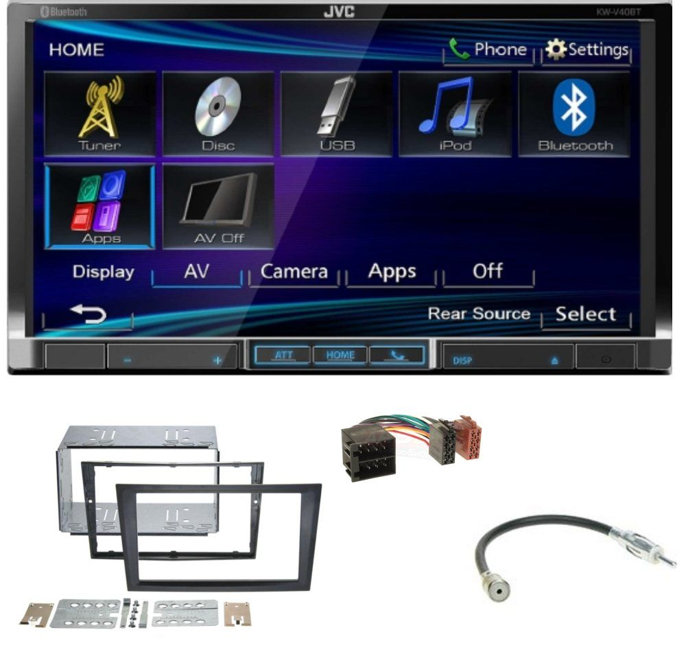 usb autoradio opel meriva a 2003 2006 2 din einbau set autoradio. Black Bedroom Furniture Sets. Home Design Ideas