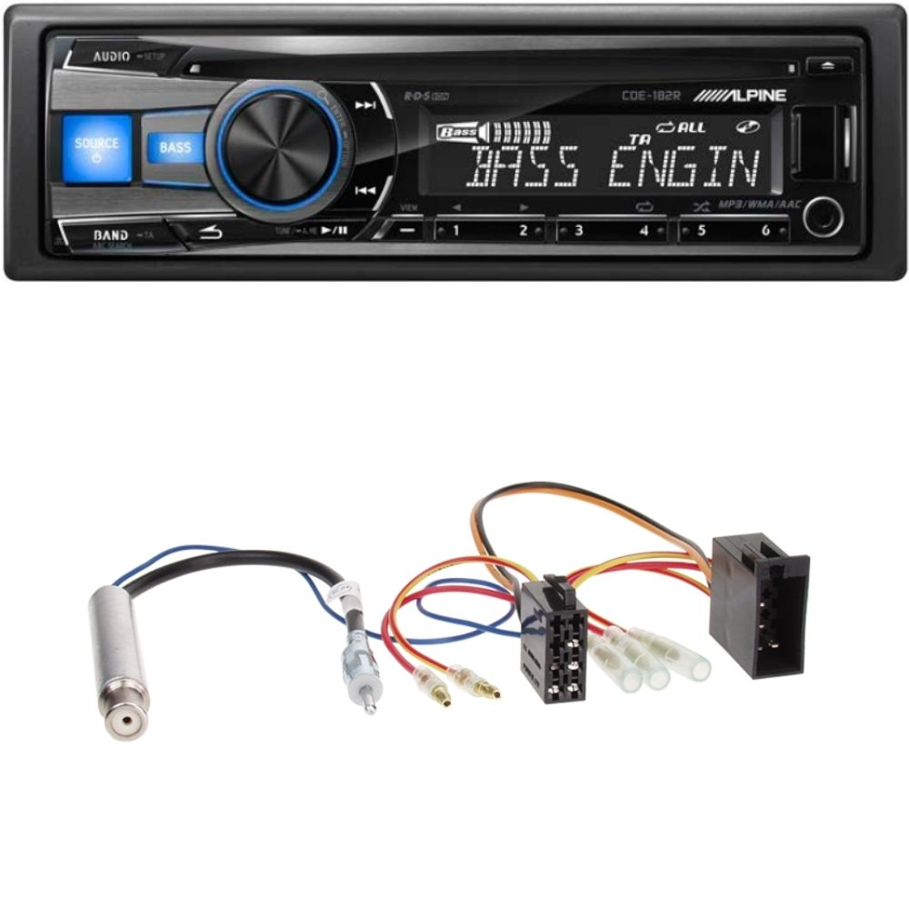 usb autoradio vw golf 4 1 din einbau set autoradio. Black Bedroom Furniture Sets. Home Design Ideas
