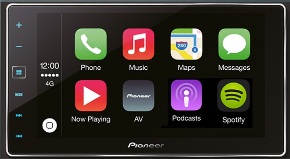 Pioneer SPH-DA120 APPRadio 2-DIN mit Bluetooth und Apple CarPlay