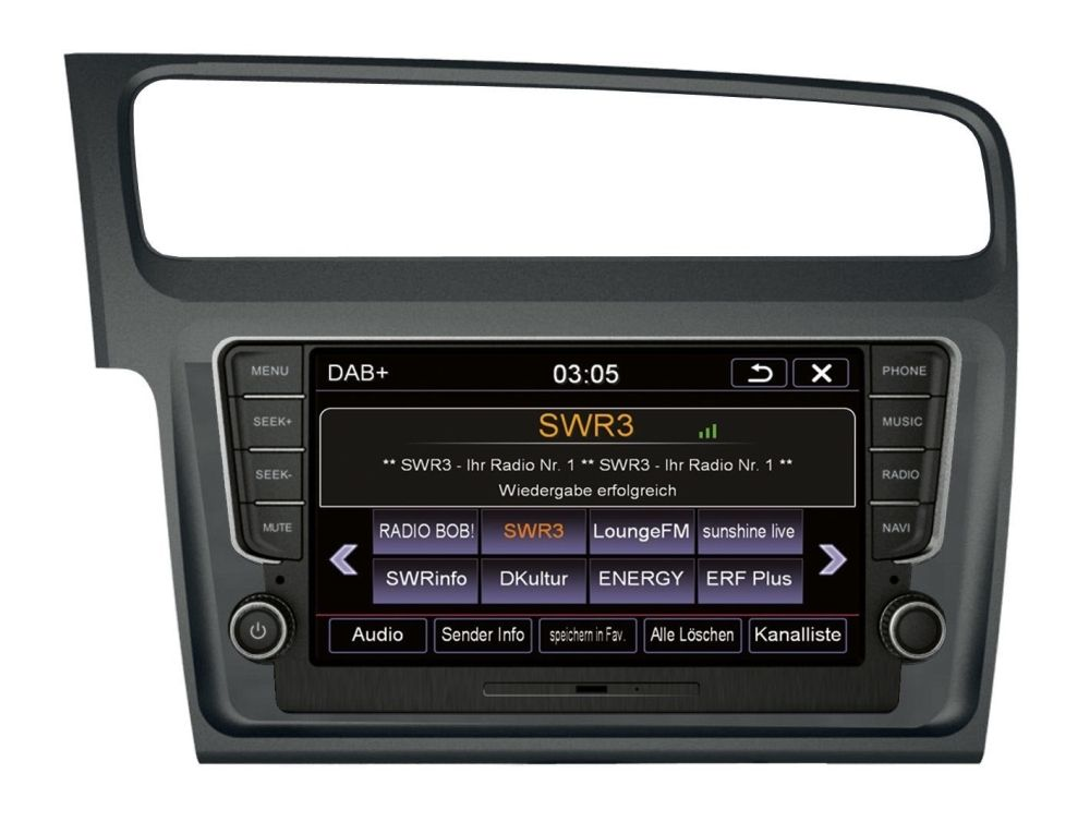 ESX VN810-VW-G7-DAB Autoradio mit Navigation VW Golf 7