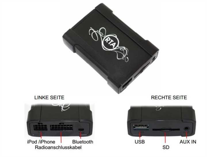 usb iphone adapter zum nachr sten audi vw seat skoda. Black Bedroom Furniture Sets. Home Design Ideas